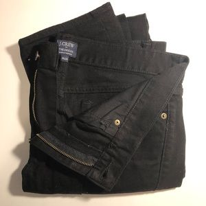 J. Crew Driggs Black Slim Stretch Jeans 34x34